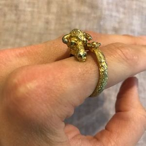 Vintage cow gold ring size 8